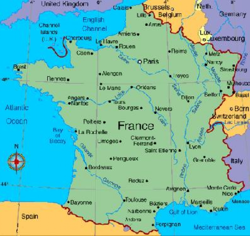 Labeled Map Of France.That French Race Which Everyone Is Talking About
