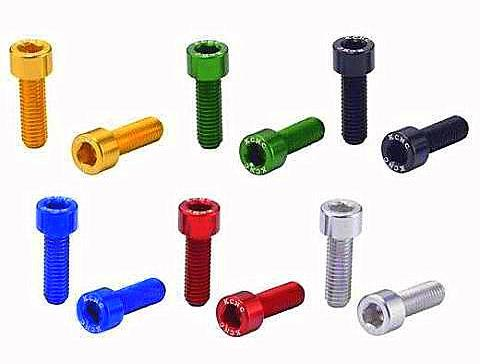 KCNC Bottle Cage Bolts x 2 red