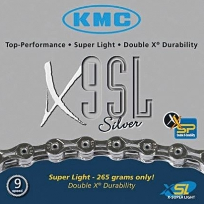 KMC X9SL 9 speed chain  - superlight @ 265g