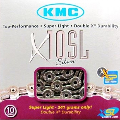 KMC X10SL 10 speed chain  - superlight @ 241g
