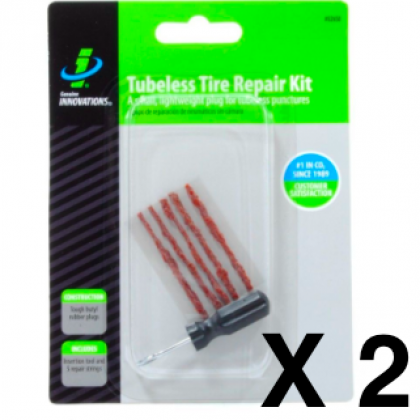 2 x Genuine Innovations Tubeless Repair kits