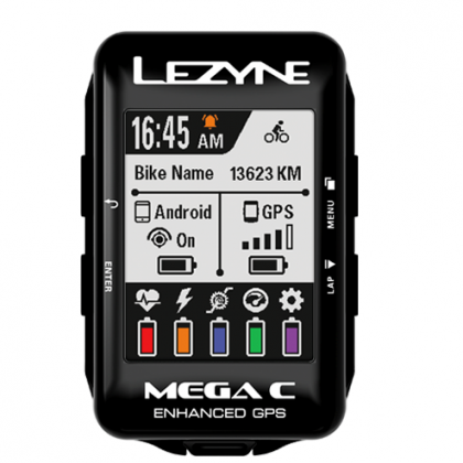 Lezyne Mega C GPS - Colour / 32hr run time